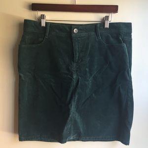 Sonoma Skirts - SONOMA Green Corduroy Mid Rise Skirt Size 12